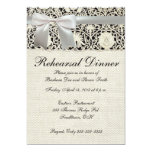 Wedding Vintage White Lace and Linen 5x7 Paper Invitation Card