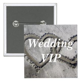 Wedding VIP 2 Inch Square Button
