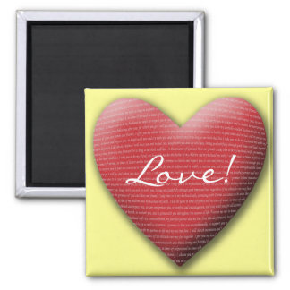Wedding Vow Heart, Love! 2 Inch Square Magnet