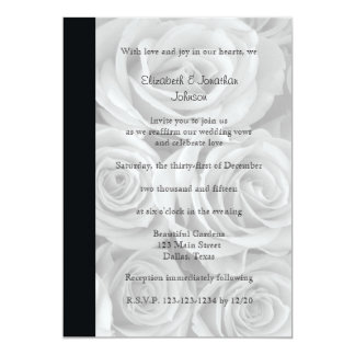 Wedding Vow Renewal Gorgeous Roses 5x7 Paper Invitation Card