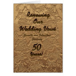 Wedding Vow Renewal Invitation 50 Years Golden Card