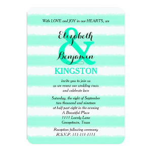 Wedding Vow Renewal Invitation - Mint Watercolor 5