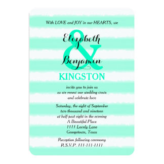 Wedding Vow Renewal Invitation - Mint Watercolor