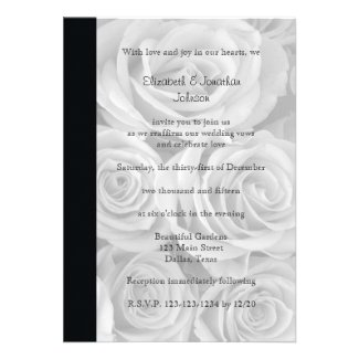Wedding Vow Renewal Invitation -- Roses