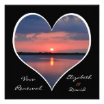 Wedding Vow Renewal Invitation - Sunset in Heart