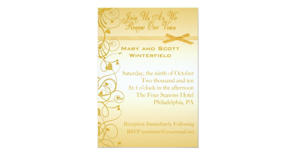 50th Wedding Vow Renewal Invitations: Wedding Vow Renewal Invitations