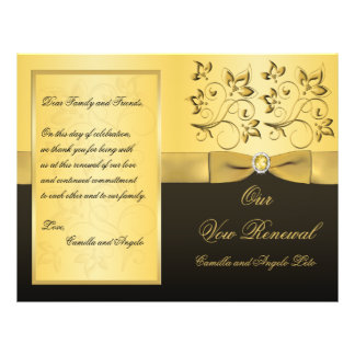 Wedding Vow Renewal Program - EMAIL for help Flyer