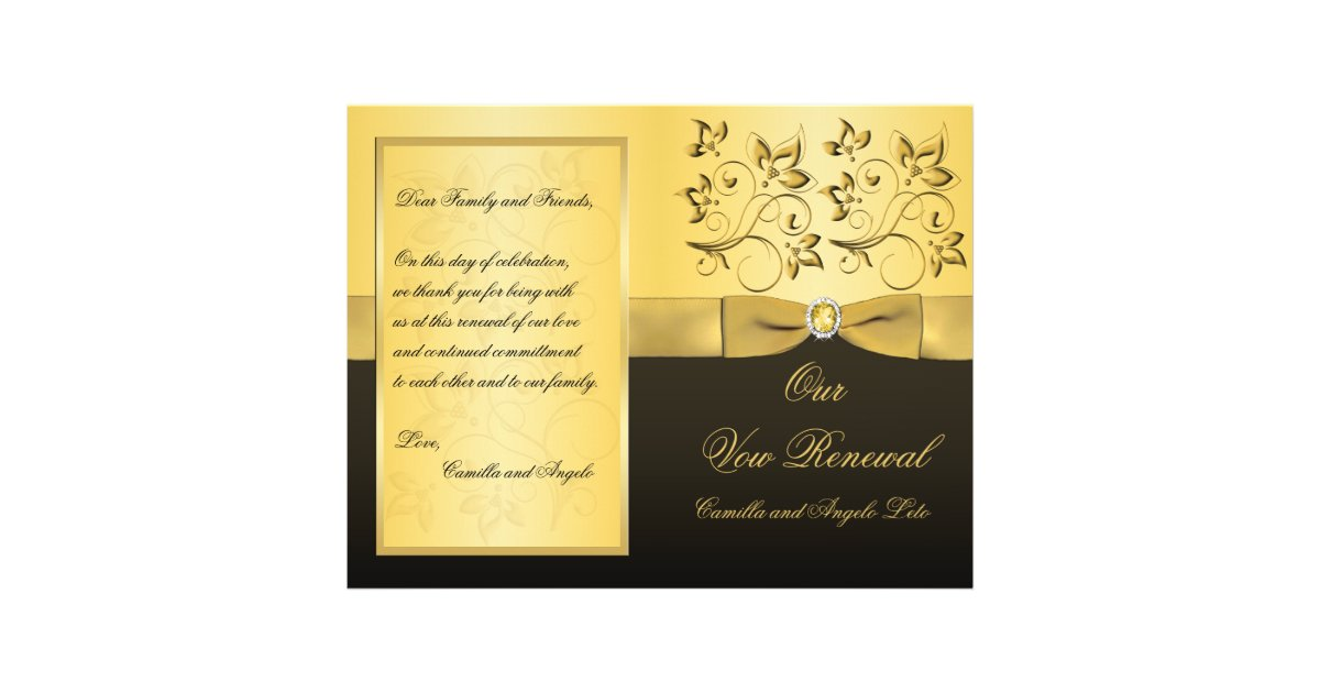 Wedding Vow Renewal Program