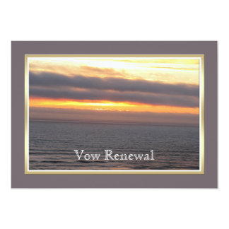 Wedding Vow Renewal Sunset 5x7 Paper Invitation Card