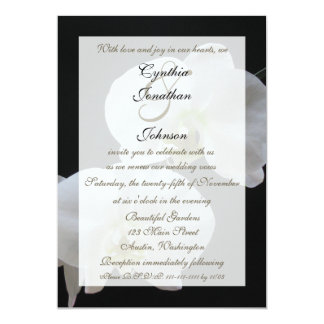 Wedding Vow Renewal White Orchids 5x7 Paper Invitation Card