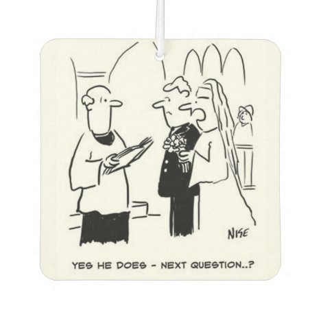 Wedding Vows Cartoon Car Air Freshener