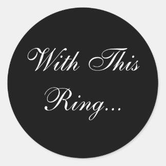 Wedding Vows Envelope Seal Classic Round Sticker