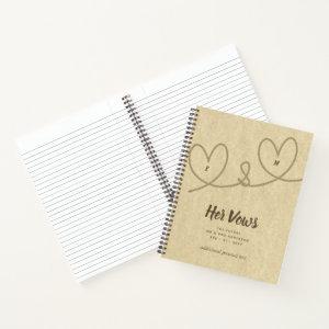 Wedding Vows Journal Custom keepsake Mr or Mrs