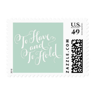 Wedding Vows Postage by Blue Magpie Invtations
