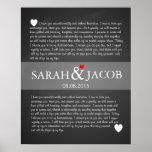 Wedding vows print anniversary gift