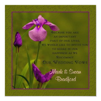 Wedding Vows Renewal - Invitations -  Black Iris