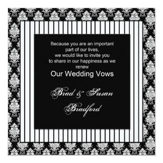 Wedding Vows Renewed - Invitation - Black White