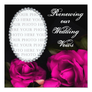 Wedding Vows Renewed - Invitation - Photo