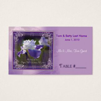 Wedding Vows Renewing - Iris Table Placement Cards