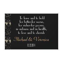 Wedding Vows with Names Canvas Print