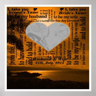 Wedding Vows Word Art Design Poster