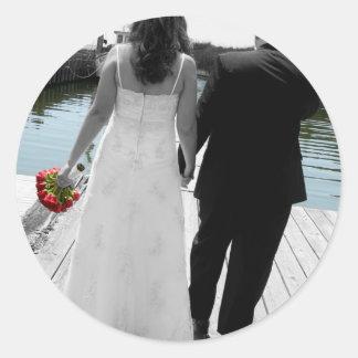 Wedding Walk Series Classic Round Sticker