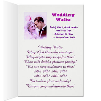 Wedding Waltz. The song is in English version Card