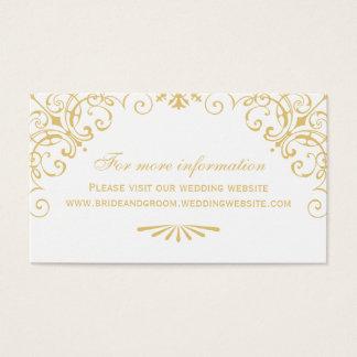 Wedding Website Card   Art Deco Style