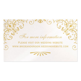 Wedding Website Card | Art Deco Style Pack Of Standard Business Cards