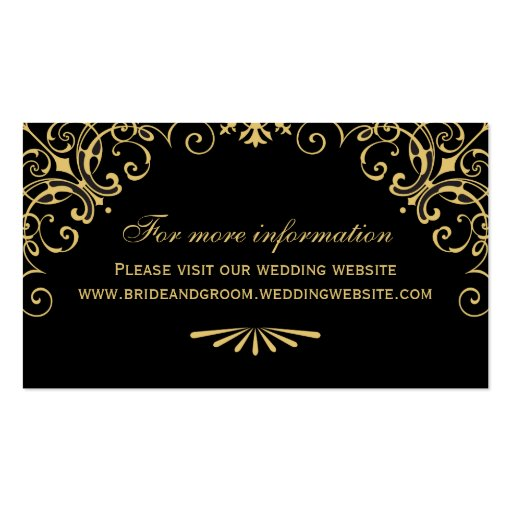 Wedding Website Card | Art Deco Style Business Card
