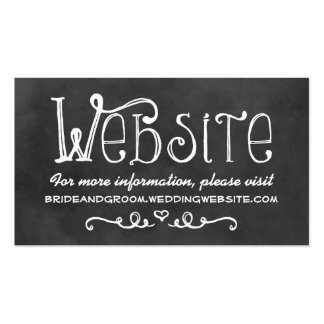 Wedding Website Card | Black Chalkboard Charm Double-Sided Standard Business Cards (Pack Of 100)