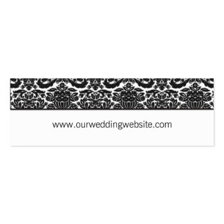 Wedding website card - damask accent Double-Sided mini business cards (Pack of 20)
