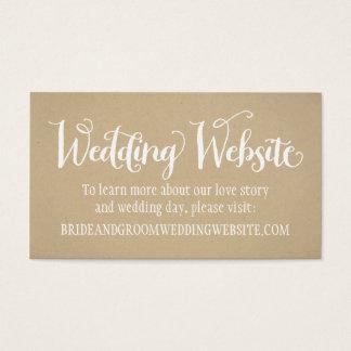Wedding Website Card   Kraft Brown