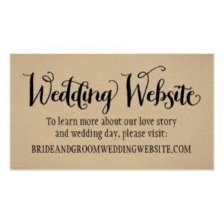 Wedding Website Card   Kraft Brown Business Card