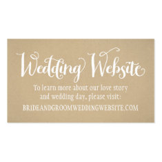 Wedding Website Card | Kraft Brown Business Card Template