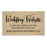Wedding Website Card | Kraft Brown Double-Sided Standard Business Cards (Pack Of 100)
