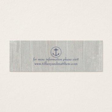 Beach Themed Wedding Website Card | Nautical Anchor