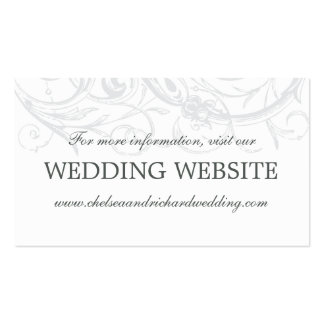 Wedding Website Card | Vintage Scrollwork Double-Sided Standard Business Cards (Pack Of 100)