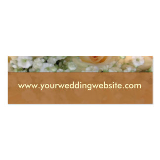 wedding website cards Double-Sided mini business cards (Pack of 20)