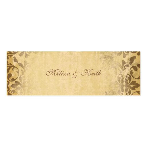 Wedding Website Cards {Toffee} Double-Sided Mini Business Cards (Pack Of 20)