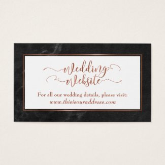 Wedding Website | Copper Script w/ Black Marble