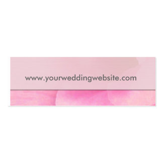Wedding website gift tag cards Double-Sided mini business cards (Pack of 20)