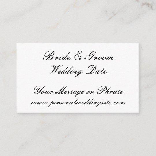 Wedding Gifts Website: Wedding Website Insert Card For Invitations