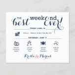 """Wedding Weekend Itinerary<br><div class=""""desc"""">Wedding Program Flyer featuring &quot;Infographic&quot; style timeline. Contact Seller before personalization for timeline icon adjustments or additions.</div>"""
