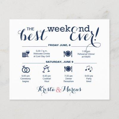 Wedding Weekend Itinerary