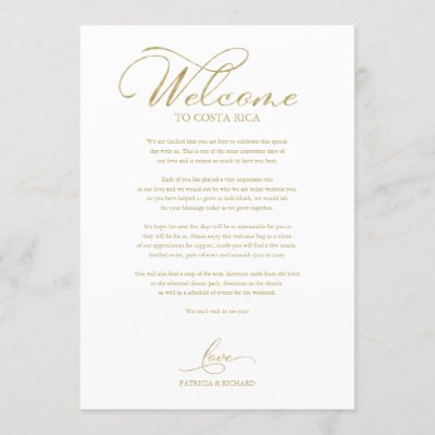 Wedding Weekend Itinerary Elegant Script Welcome Invitation