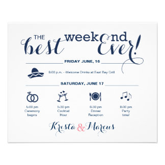 Wedding Weekend Itinerary Flyer