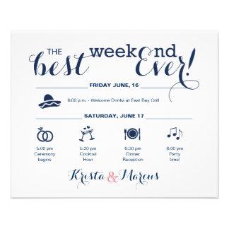 Wedding Weekend Itinerary Flyer