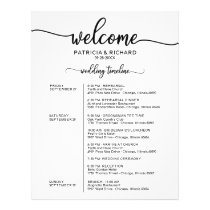 Wedding Weekend Itinerary Simple Chic Timeline Flyer