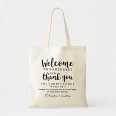 Wedding Welcome And Thank You Hotel Gift Bag at Zazzle